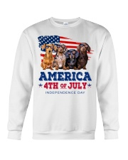 Dachshund america 4th of july independence day Crewneck Sweatshirt tile