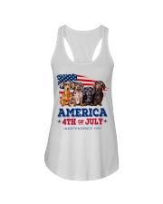 Dachshund america 4th of july independence day Ladies Flowy Tank thumbnail
