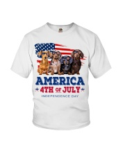 Dachshund america 4th of july independence day Youth T-Shirt thumbnail