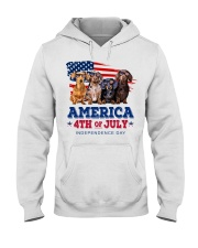 Dachshund america 4th of july independence day Hooded Sweatshirt tile