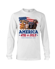Dachshund america 4th of july independence day Long Sleeve Tee tile