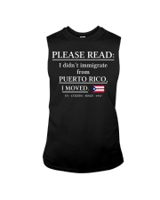 Please read I didn't immigrate from Puerto Rico Sleeveless Tee thumbnail