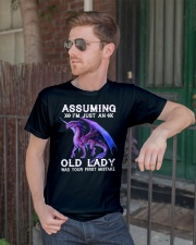 Dragon assuming i'm just an old lady was your firs Premium Fit Mens Tee lifestyle-mens-crewneck-front-2