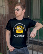 Once you become a school bus driver all your probl Premium Fit Mens Tee lifestyle-mens-crewneck-front-2
