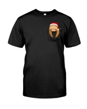 Christmas Pocket Sloth Premium Fit Mens Tee front