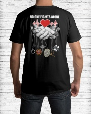 Nurse no one fights alone Classic T-Shirt lifestyle-mens-crewneck-back-1