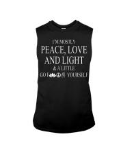 I'm mostly peace love and light Sleeveless Tee thumbnail