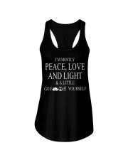 I'm mostly peace love and light Ladies Flowy Tank thumbnail