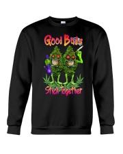 Pot Marijuana Good Buds Stick Together Crewneck Sweatshirt thumbnail