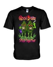 Pot Marijuana Good Buds Stick Together V-Neck T-Shirt thumbnail