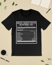 Breast cancer fighter nutritional facts  Classic T-Shirt lifestyle-mens-crewneck-front-19
