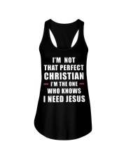 I'm not that perfect Christian I'm the one who  Ladies Flowy Tank thumbnail