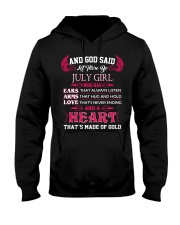 And God said let there be July girl who has ears Hooded Sweatshirt thumbnail