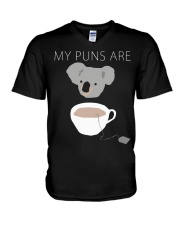 Koala Tea puns shirt hoodie tank top V-Neck T-Shirt thumbnail