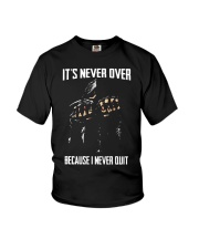 Skull it never over because I never quit Youth T-Shirt thumbnail