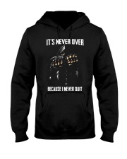 Skull it never over because I never quit Hooded Sweatshirt thumbnail
