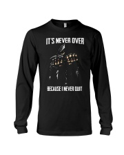 Skull it never over because I never quit Long Sleeve Tee thumbnail