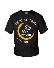 Floral circle of trust my dog you Youth T-Shirt thumbnail