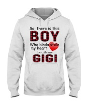 So there is this boy who kinda stole my heart red  Hooded Sweatshirt thumbnail