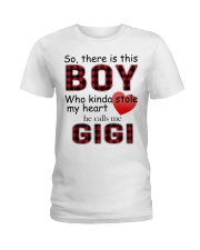 So there is this boy who kinda stole my heart red  Ladies T-Shirt thumbnail
