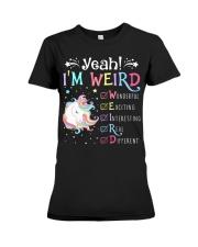 Unicorn yeah im weird Premium Fit Ladies Tee thumbnail