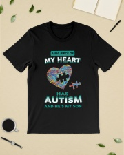 A big piece of my heart has autism and he's my son Premium Fit Mens Tee lifestyle-mens-crewneck-front-19