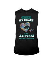 A big piece of my heart has autism and he's my son Sleeveless Tee thumbnail