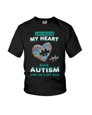 A big piece of my heart has autism and he's my son Youth T-Shirt thumbnail