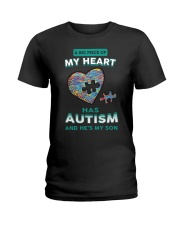 A big piece of my heart has autism and he's my son Ladies T-Shirt thumbnail