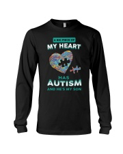 A big piece of my heart has autism and he's my son Long Sleeve Tee thumbnail