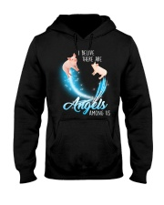 Pig I believe there are angels among us Hooded Sweatshirt thumbnail