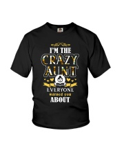 Im the crazy aunt everyone warned you about Youth T-Shirt thumbnail