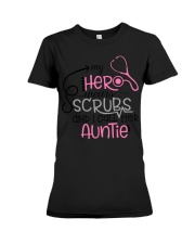 My hero wears scrubs and I call bere auntie Premium Fit Ladies Tee thumbnail
