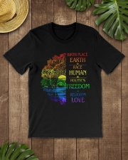 Buddha birth place earth race human politics freed Classic T-Shirt lifestyle-mens-crewneck-front-18
