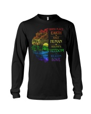 Buddha birth place earth race human politics freed Long Sleeve Tee thumbnail