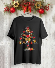 Christmas tree wine glass Classic T-Shirt lifestyle-holiday-crewneck-front-2