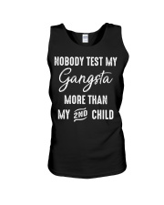 nobody test your gangsta more than my 2nd child Unisex Tank thumbnail