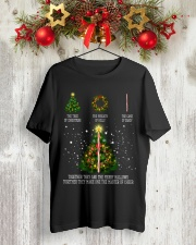 The tree of christmas the wreath of holly the cane Premium Fit Mens Tee lifestyle-holiday-crewneck-front-2