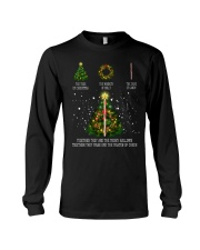 The tree of christmas the wreath of holly the cane Long Sleeve Tee thumbnail