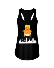 HOT Baby trump crying ballon london  Ladies Flowy Tank tile