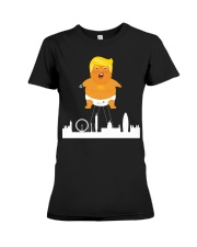 HOT Baby trump crying ballon london  Premium Fit Ladies Tee tile