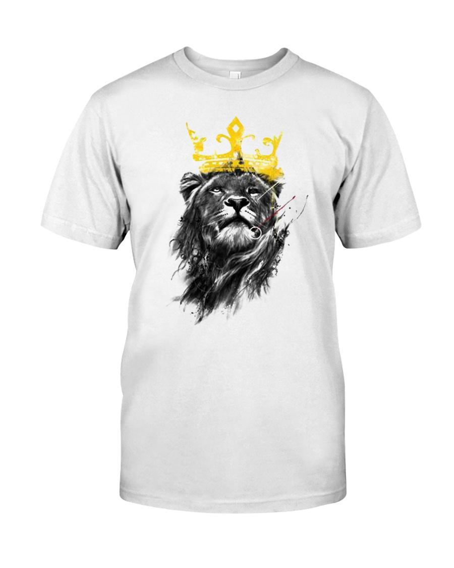 Rasta Lion golden crown Classic T-Shirt