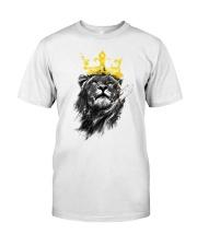 Rasta Lion golden crown Classic T-Shirt front