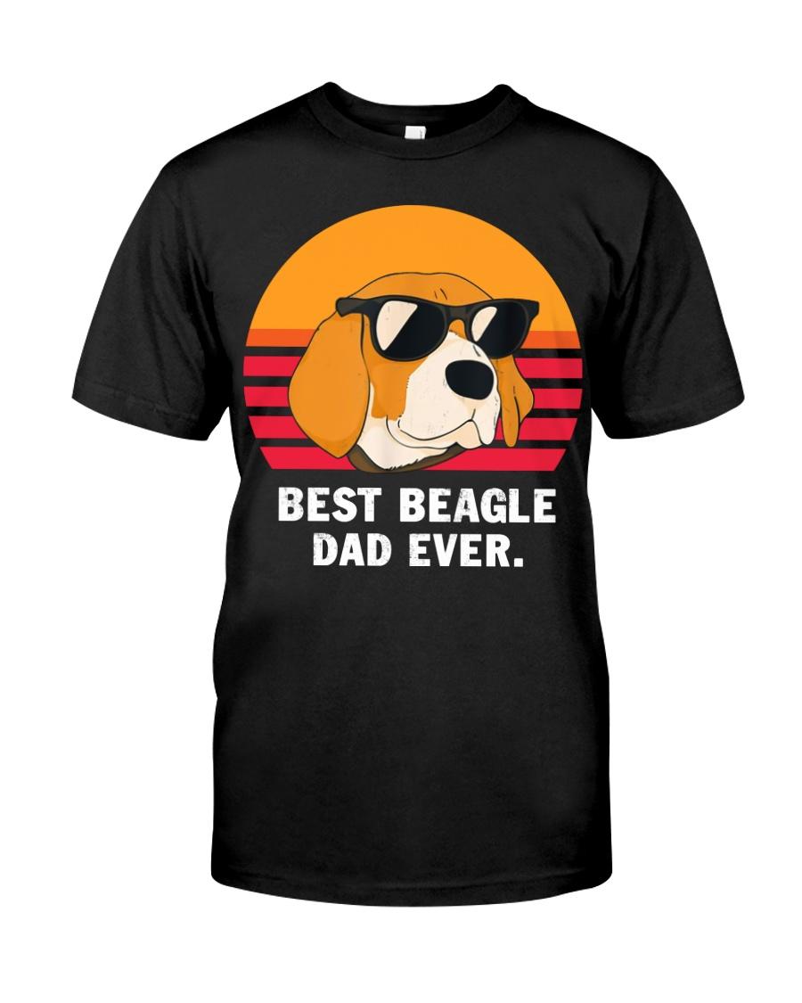 Best beagle dad ever vintage Premium Fit Mens Tee