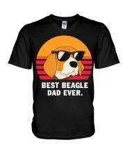 Best beagle dad ever vintage V-Neck T-Shirt thumbnail