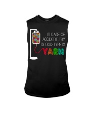 In case of accident my blood type is yarn  Sleeveless Tee thumbnail