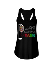 In case of accident my blood type is yarn  Ladies Flowy Tank thumbnail
