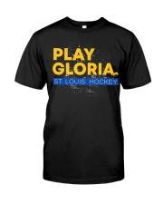 Play gloria st louis hockey Premium Fit Mens Tee front