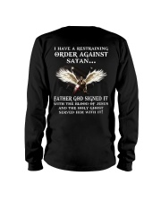 I have a restraining order against satan Father  Long Sleeve Tee thumbnail