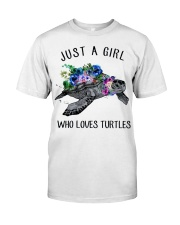 Just a girl who loves turtles Premium Fit Mens Tee thumbnail